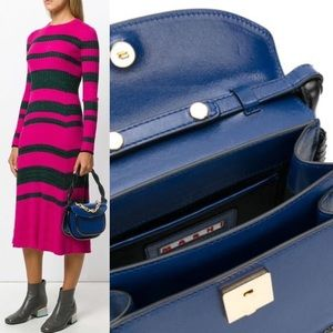 🧿🆕 Marni ☻ Twisted Handle Satchel Bag ☻ Cobalt ☻